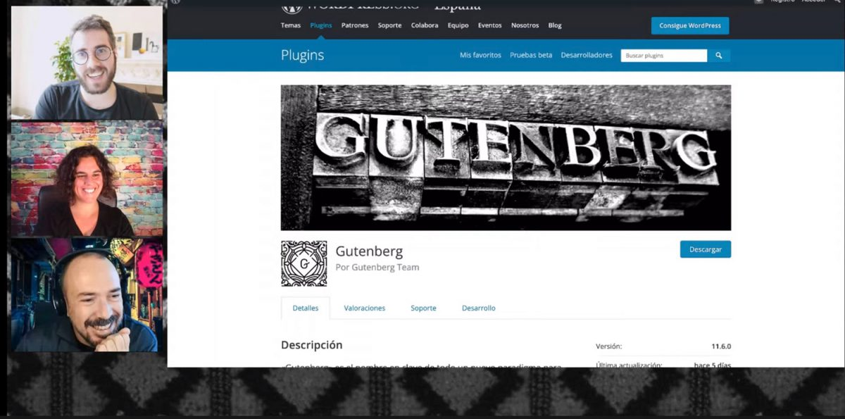 Gutenberg Matias Ventura WordPress